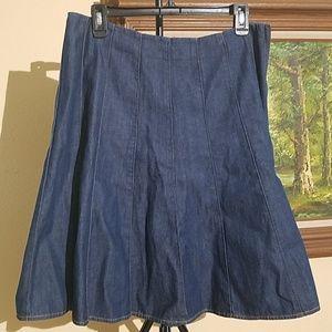 Jones New York Signature denim pleated skirt C30